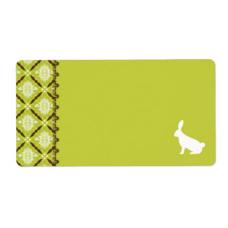 Wild About Bunnies Name Tag B Custom Shipping Label