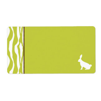 Wild About Bunnies Name Tag Label