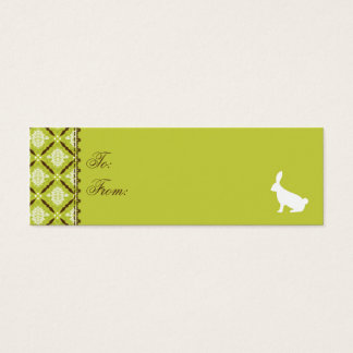 Wild About Bunnies Skinny Gift Tag