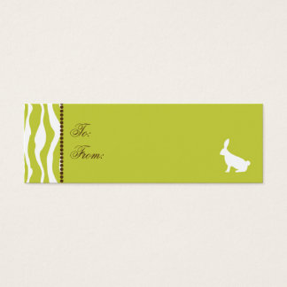 Wild About Bunnies Skinny Gift Tag 2