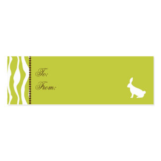 Wild About Bunnies Skinny Gift Tag 2 Mini Business Card