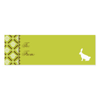 Wild About Bunnies Skinny Gift Tag Business Card Templates