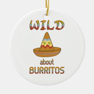 Wild About Burritos Ceramic Ornament