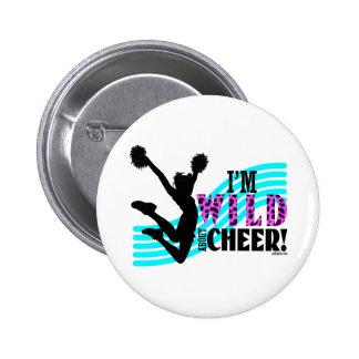 Wild About Cheer 2 Inch Round Button