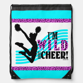 Wild About Cheer Drawstring Backpack