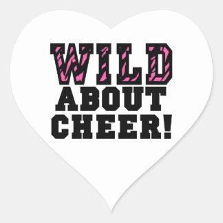 Wild About Cheer Heart Sticker