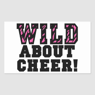 Wild About Cheer Rectangular Sticker
