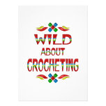 Wild About Crocheting Personalized Announcements
