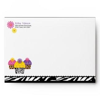 Wild About Cupcakes Envelope envelope