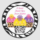 Wild About Cupcakes Label Stickers