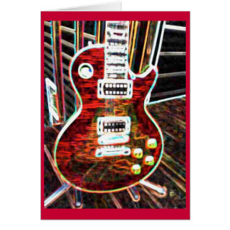 Wild About Electric Guitars Greeting Card