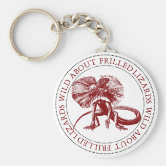 Wild About Frilled Lizards Keychain