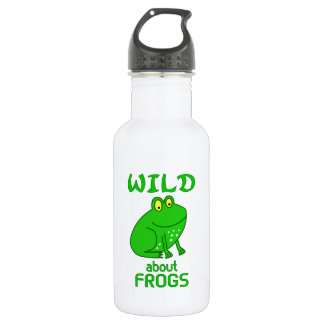 Wild About Frogs 18oz Water Bottle