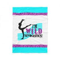 Wild About Gymnastics Fleece Blanket