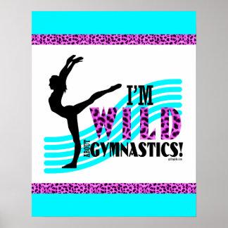 Wild About Gymnastics Poster
