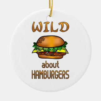 Wild About Hamburgers Christmas Tree Ornaments