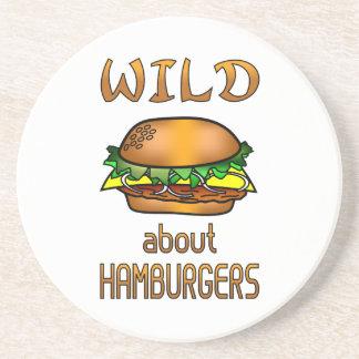 Wild About Hamburgers Beverage Coaster