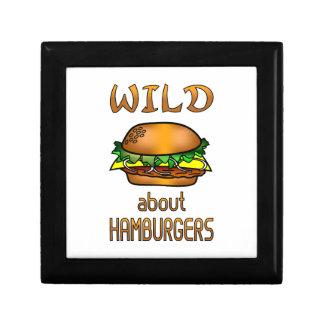Wild About Hamburgers Trinket Box