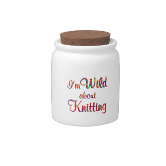 Wild About Knitting Candy Jars