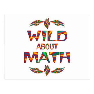 Wild About Math Postcard