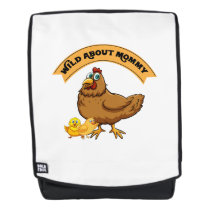 Wild About Mommy Chick Easter Funny Mom Women Backpack
