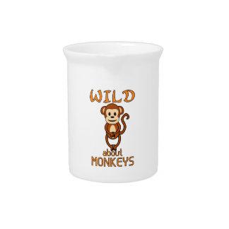 Wild About Monkeys Drink Pitcher