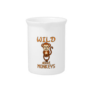 Wild About Monkeys Drink Pitchers