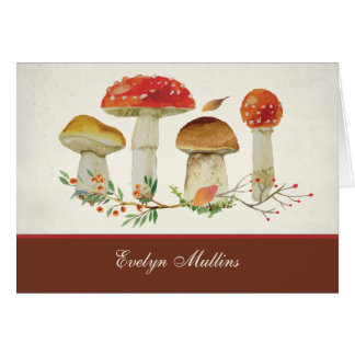 Wild About Mushrooms Note Card