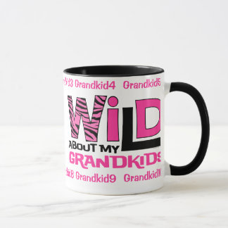 Wild About My Grandkids Personalized Mug