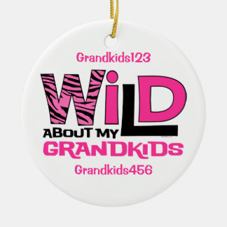 Wild About My Grandkids Personalized Ornament