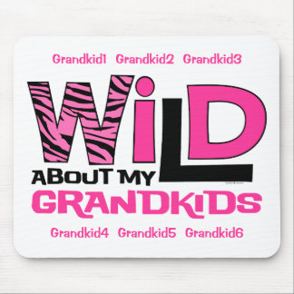 Wild About My Grandkids Personlized Mousepad