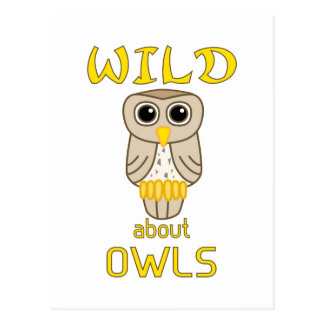 Wild About Owls Postcard