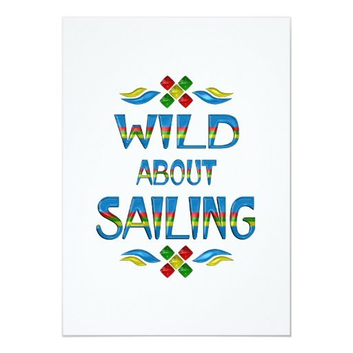 Wild About Sailing Card
