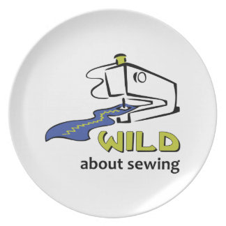 WILD ABOUT SEWING PARTY PLATES