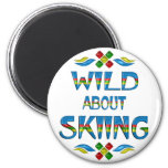 Wild About Skiing Fridge Magnets