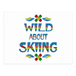 Wild About Skiing Post Cards