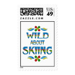 Wild About Skiing Postage Stamps