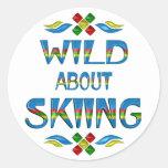 Wild About Skiing Sticker