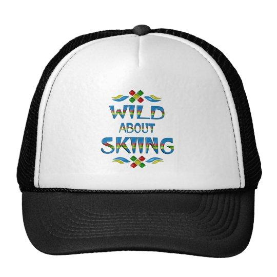 Wild About Skiing Trucker Hat