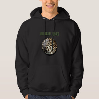 Wild about Soccer leopard soccer ball gifts Hoodie