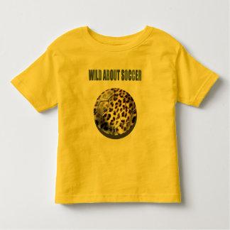 Wild about Soccer leopard soccer ball kids animal T-shirt