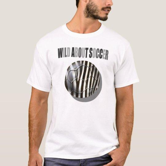 Wild about soccer Zebra stripes ball T-Shirt