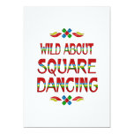Wild About Square Dancing Custom Announcement