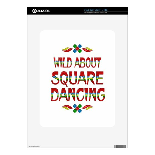 Wild About Square Dancing iPad Skins