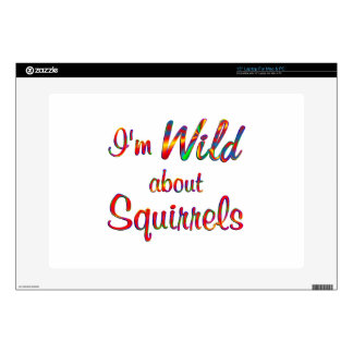 """Wild About Squirrels 15"""" Laptop Decal"""
