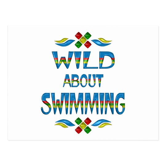 Wild About Swimming Postcard