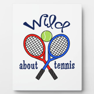 Wild About Tennis Photo Plaques