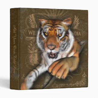 Wild About Tigers Personalized Binder