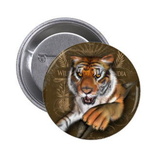 Wild About Tigers Pinback Button
