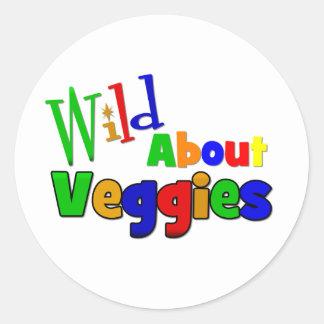 WILD About VEGGIES Round Stickers
